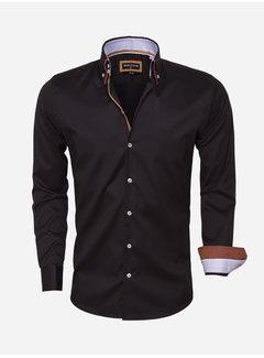 Wam Denim Overhemd Lange Mouw 75423 Black