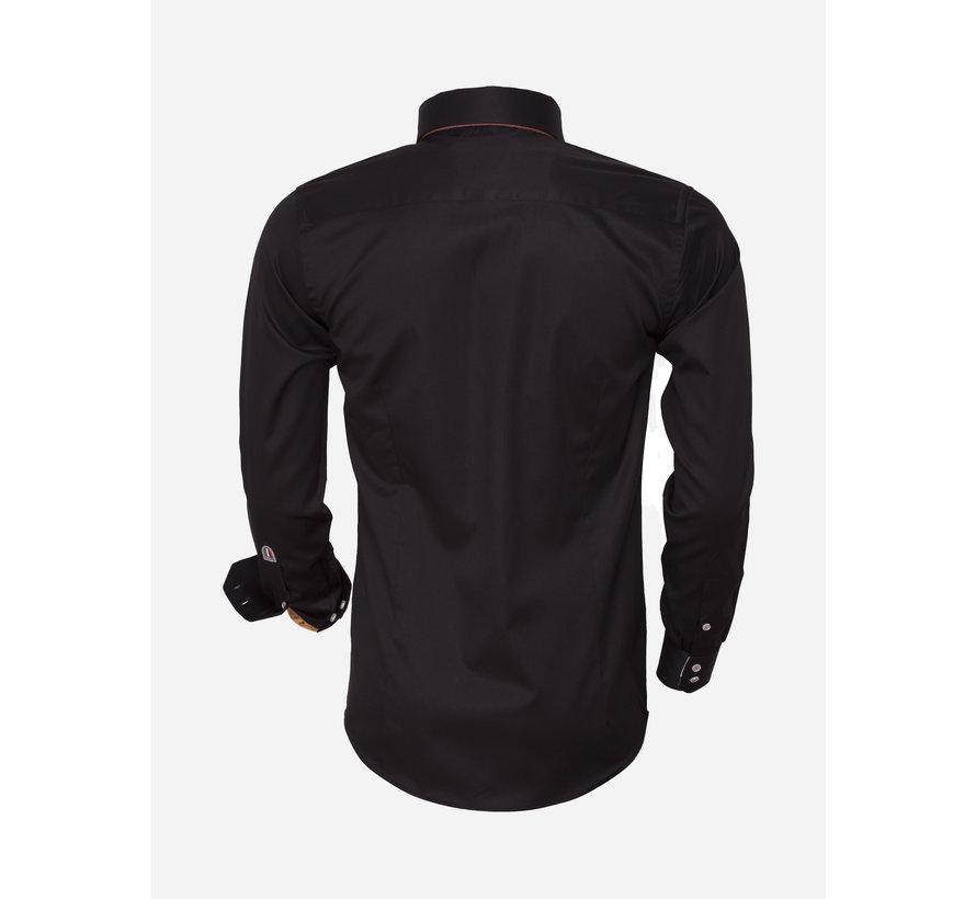 Overhemd Lange Mouw 75423 Black