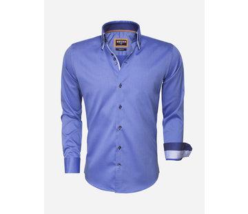 Wam Denim Overhemd Lange Mouw 75488 Dark Blue