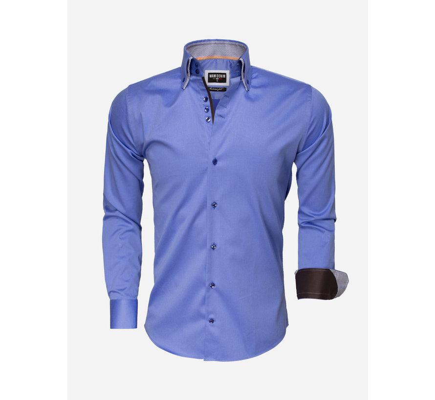 Overhemd Lange Mouw 75498 Blue