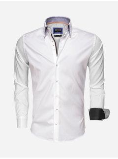 Wam Denim Overhemd Lange Mouw 75498 White