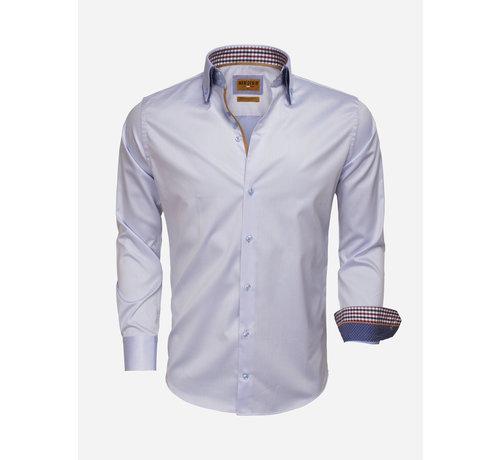 Wam Denim Overhemd Lange Mouw 75510 Light Blue