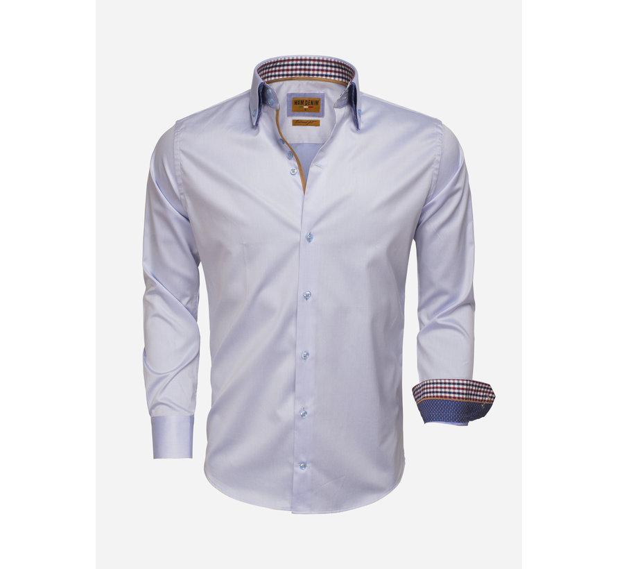 Overhemd Lange Mouw 75510 Light Blue