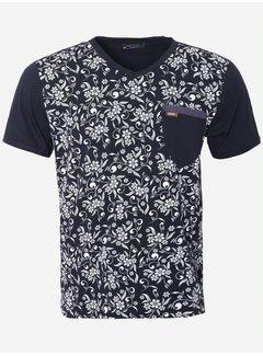 Wam Denim T-Shirt 204 Navy White