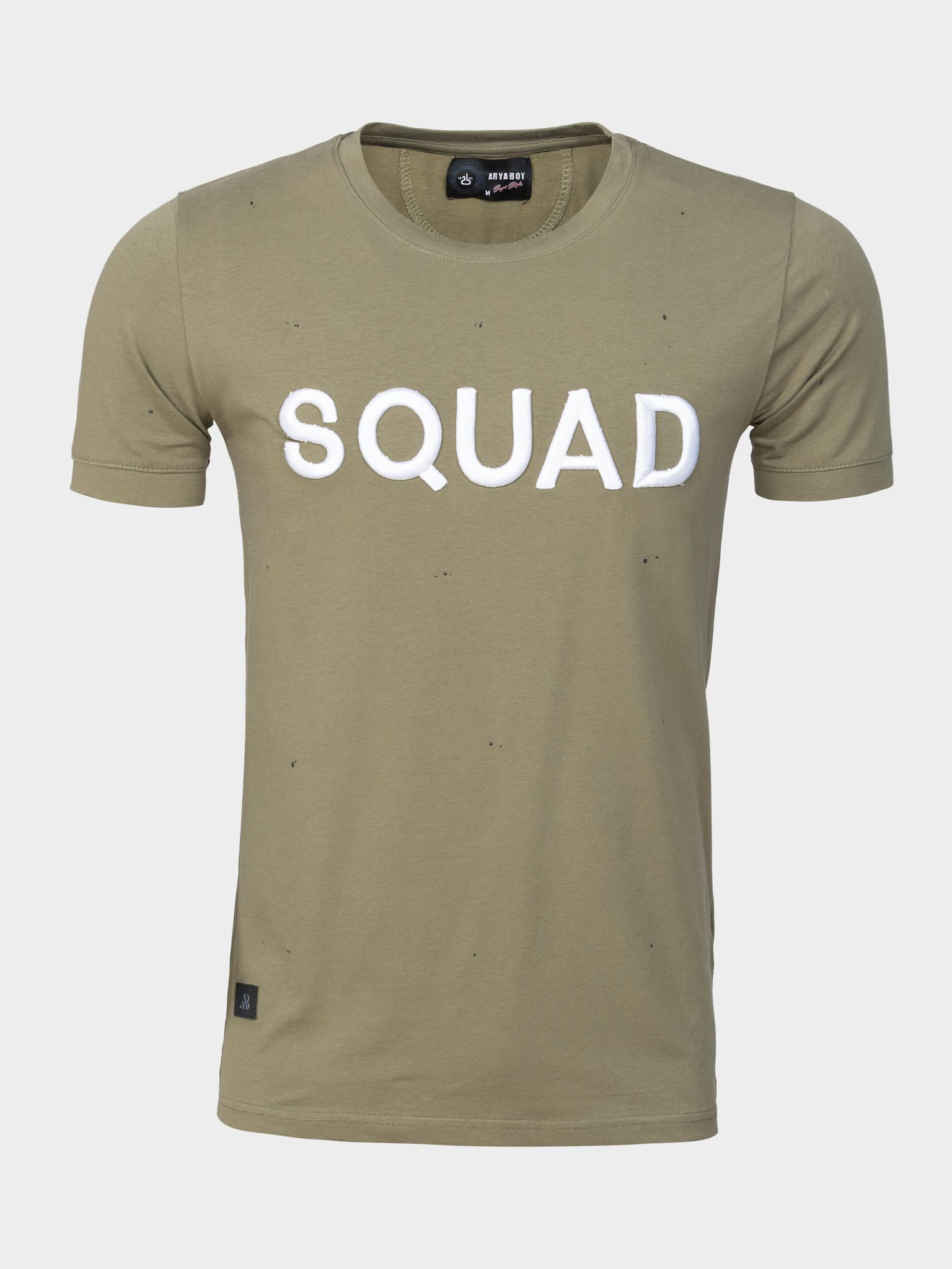 Wam Denim T-Shirt Boudry  Khaki Maat: 2XL