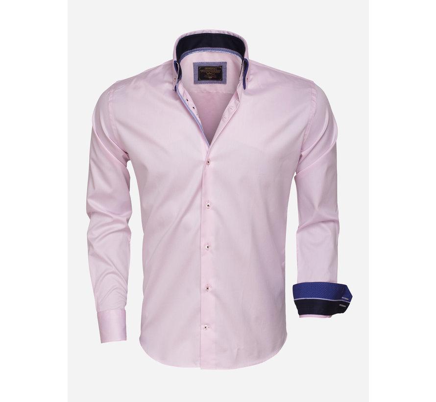 Overhemd Lange Mouw 75408 Pink