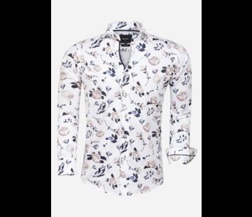 Wam Denim Overhemd Lange Mouw Cavilha White