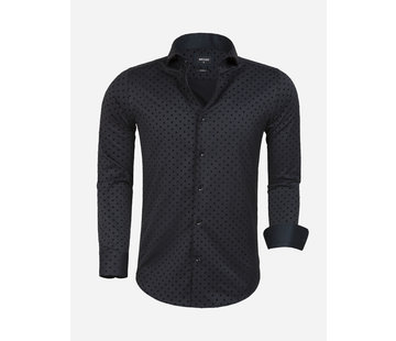 Wam Denim Overhemd Lange Mouw Cartaxo Black