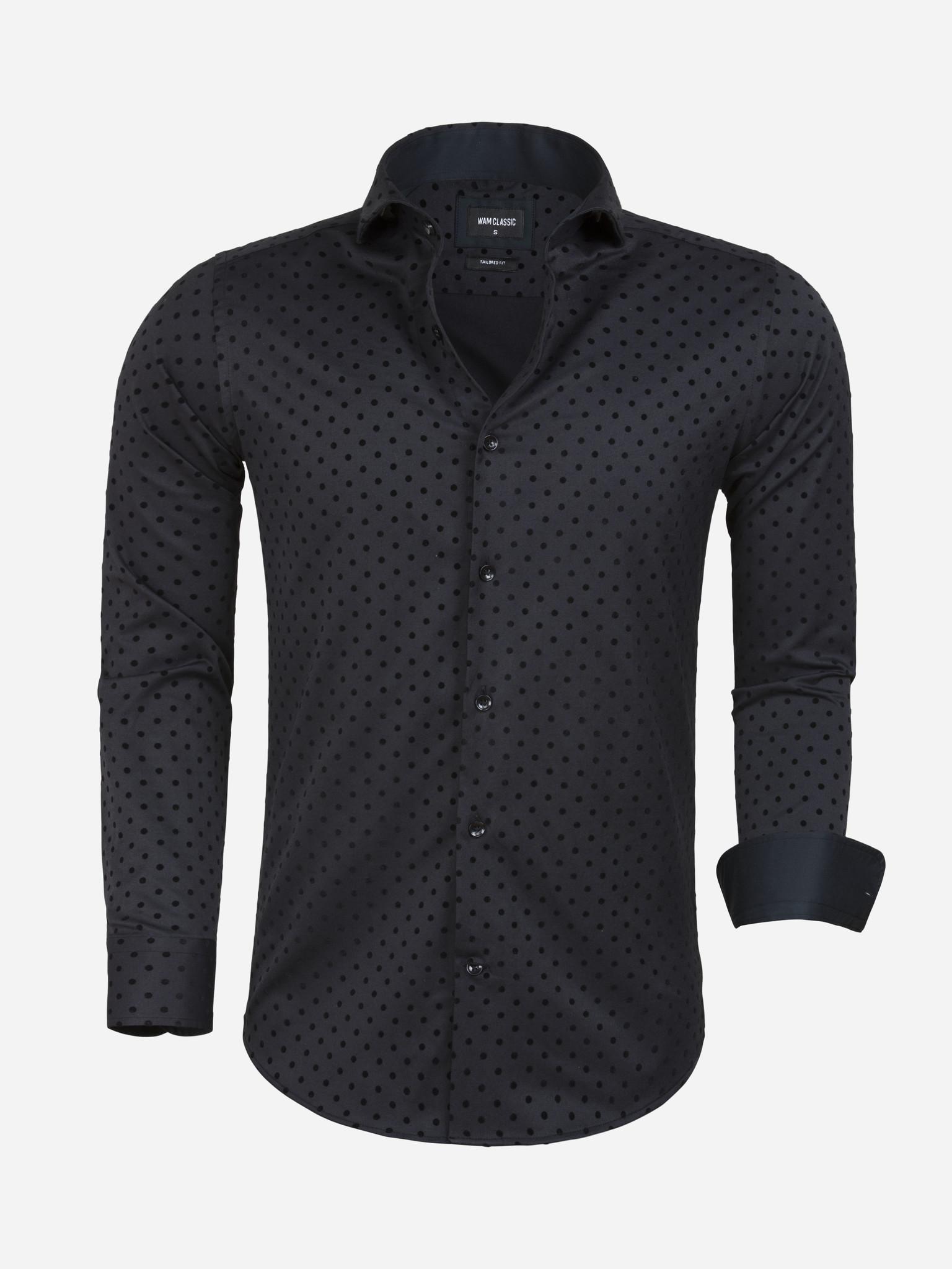 Wam Denim Overhemd Lange Mouw Cartaxo Black Maat: XL