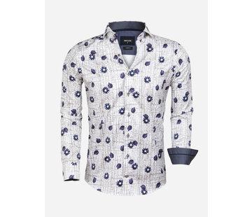 Wam Denim Overhemd Lange Mouw Esmoriz White