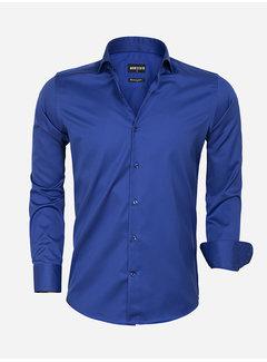 Wam Denim Overhemd Lange Mouw 75563 Prato Royal Blue
