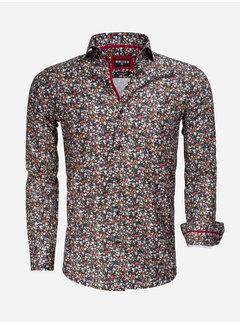 Wam Denim Shirt Long Sleeve 75536 Black Red