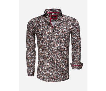 Wam Denim Overhemd Lange Mouw 75536 Black Red
