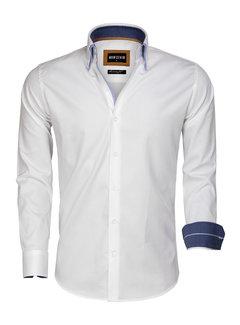Wam Denim Overhemd Lange Mouw 75546 White
