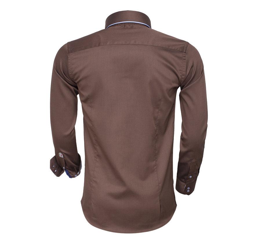 Overhemd Lange Mouw 75464 Brown
