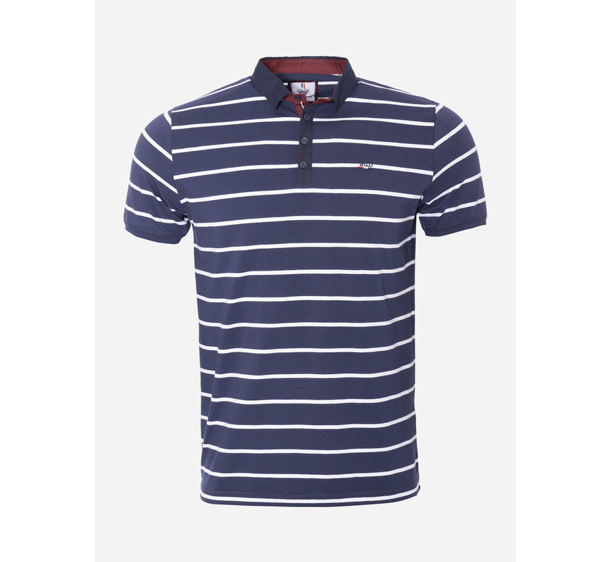 Polo 186 Navy Wit