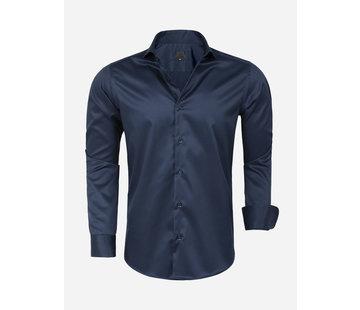 Arya Boy Overhemd Lange Mouw Lagos  Navy