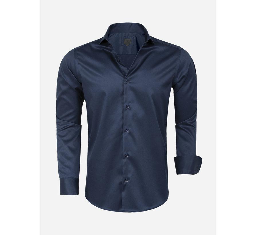 Overhemd Lange Mouw Lagos  Navy
