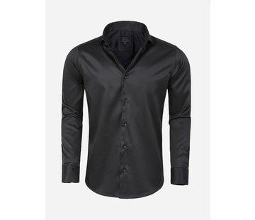 Arya Boy Overhemd Lange Mouw Lagos Black