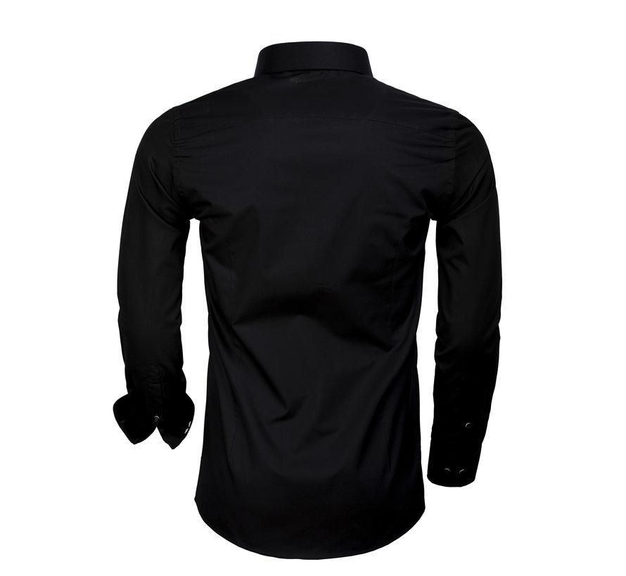 Overhemd Lange Mouw 65006 Black