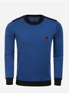 Wam Denim Sweater 66089 Royal Blue