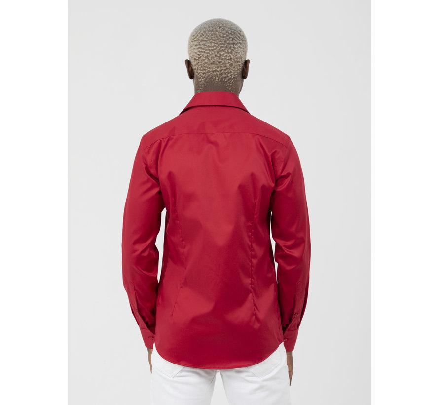 Overhemd Lange Mouw Lagos Red