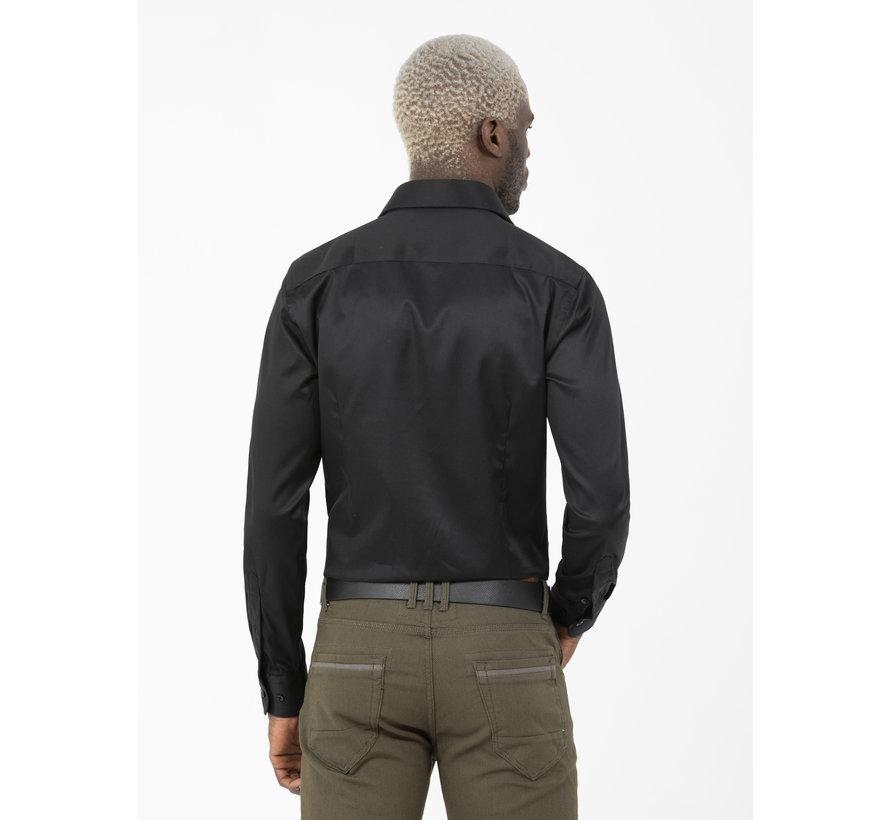 Overhemd Lange Mouw Lagos Black
