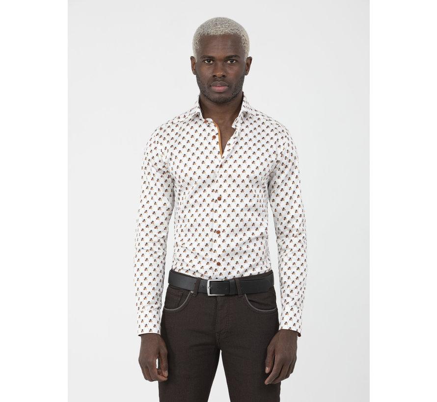 Overhemd Lange Mouw Cadiz White