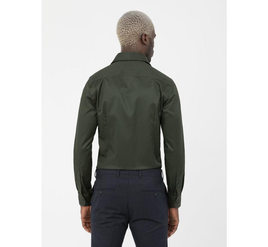 Overhemd Lange Mouw Lagos Dark Green