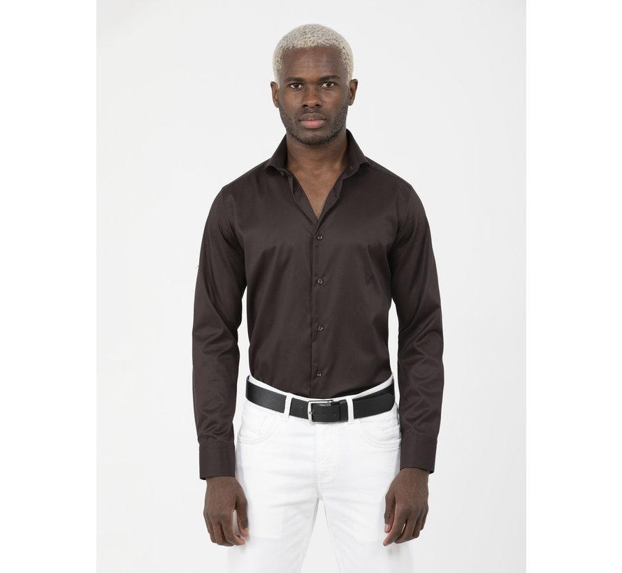 Overhemd Lange Mouw Lagos Brown