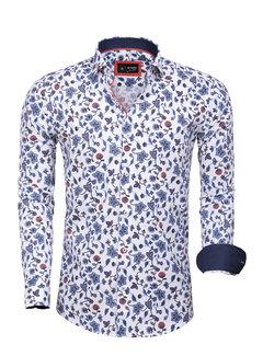 Arya Boy Shirt Long Sleeve 85280 White Red