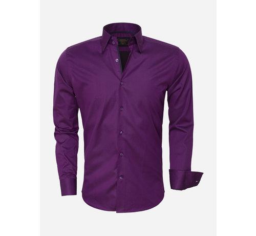 Wam Denim Overhemd 75420 Purple