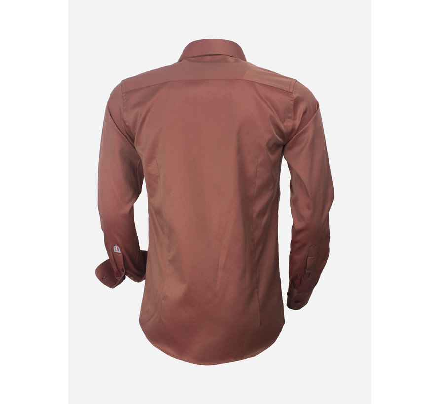 Shirt Long Sleeve  75427 Brown