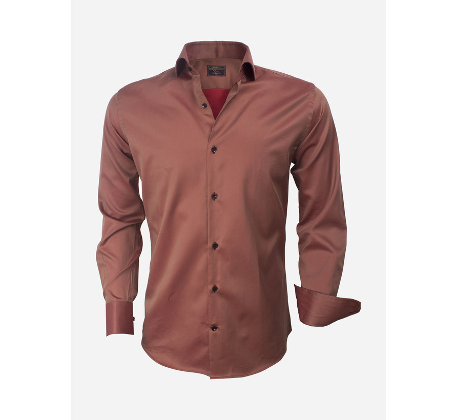 Overhemd  Lange Mouw 75427 Brown