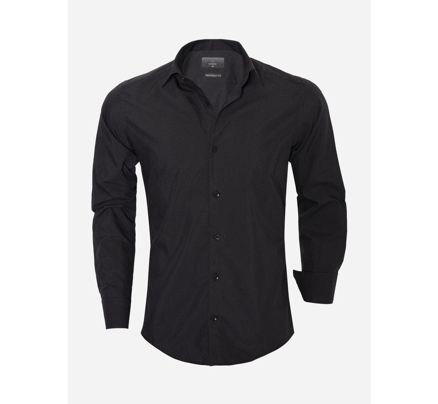 Overhemd Lange Mouw 65008 Black