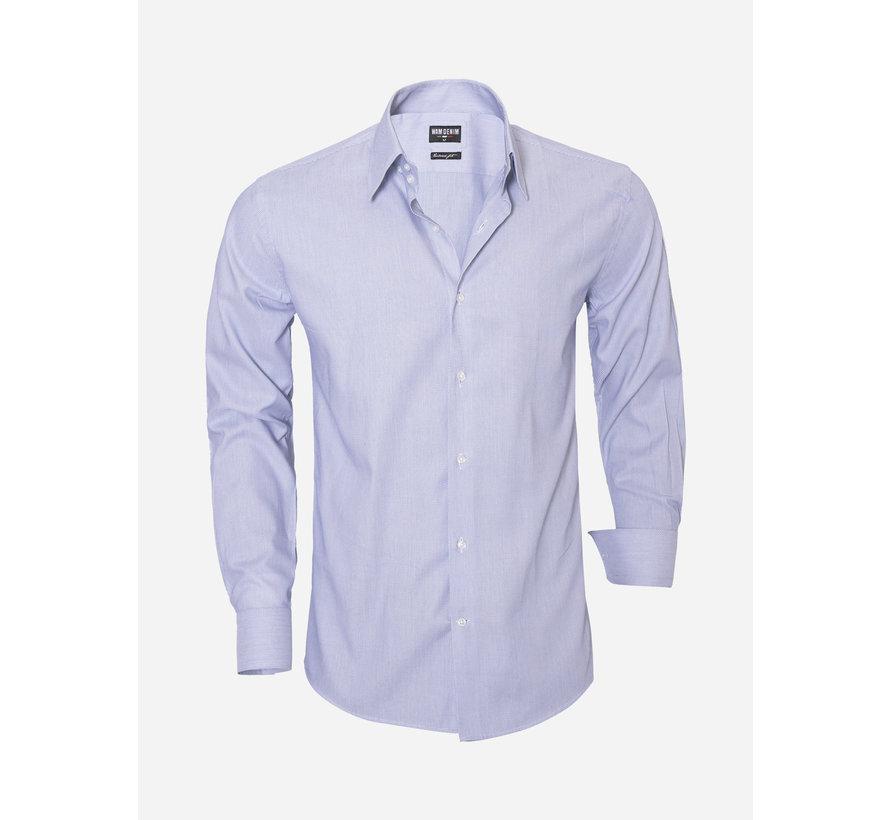 Overhemd Lange Mouw 75501 Navy