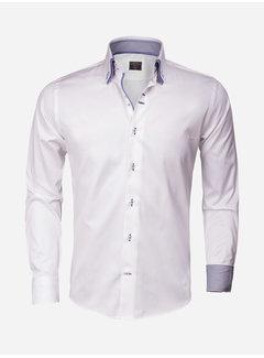Wam Denim Overhemd Lang Mouw 75243 White Blue