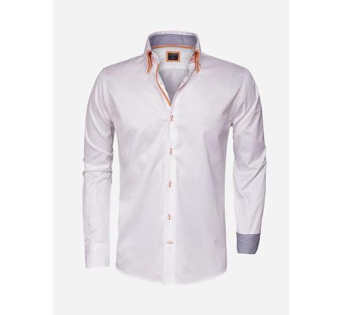 Wam Denim Overhemd Lange Mouw 75243 White