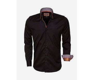 Wam Denim Overhemd Lange Mouw 59004 Black