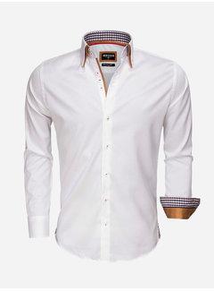 Wam Denim Overhemd Lange Mouw 59004 White