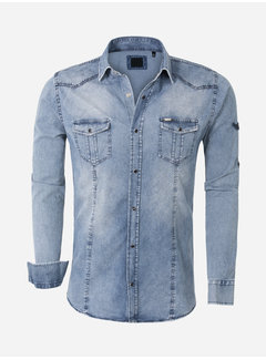 Arya Boy Shirt Long Sleeve Gandra Light Navy