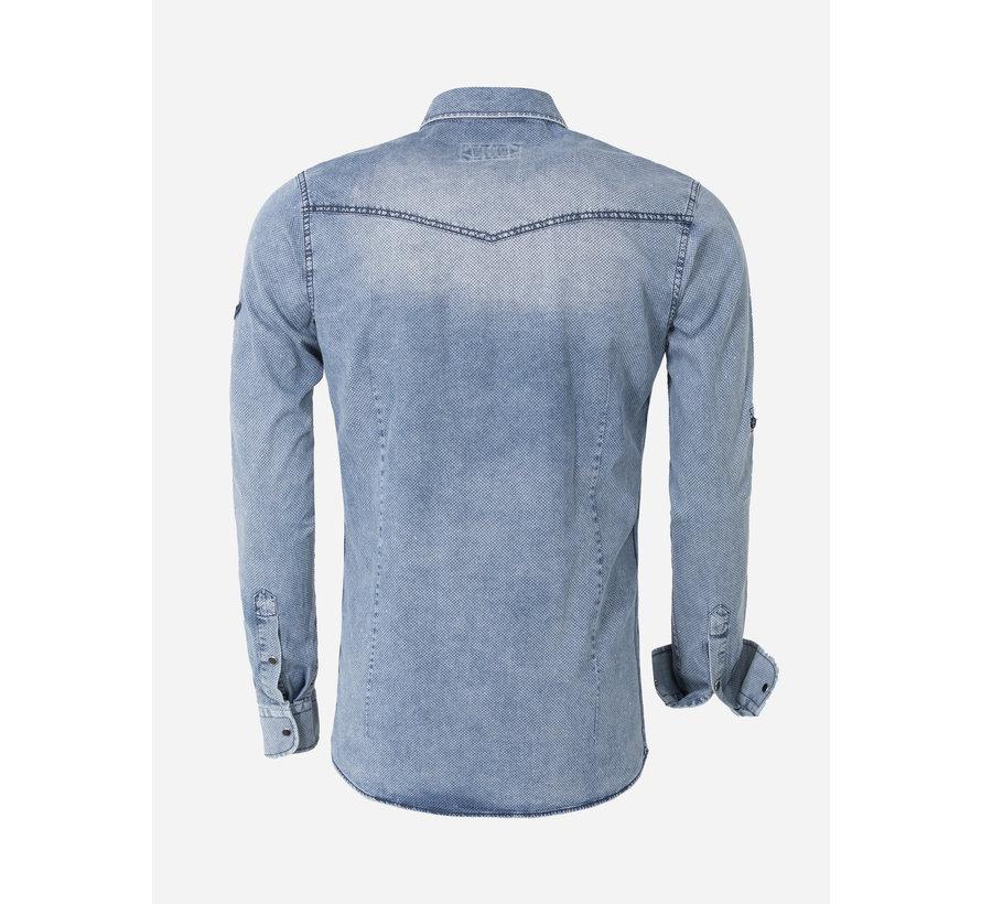 Overhemd Lange Mouw Gandra Light Navy