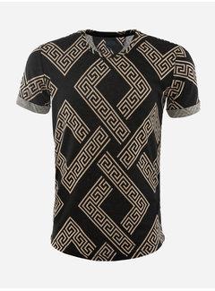 Arya Boy T-Shirt Aubonne Black Beige