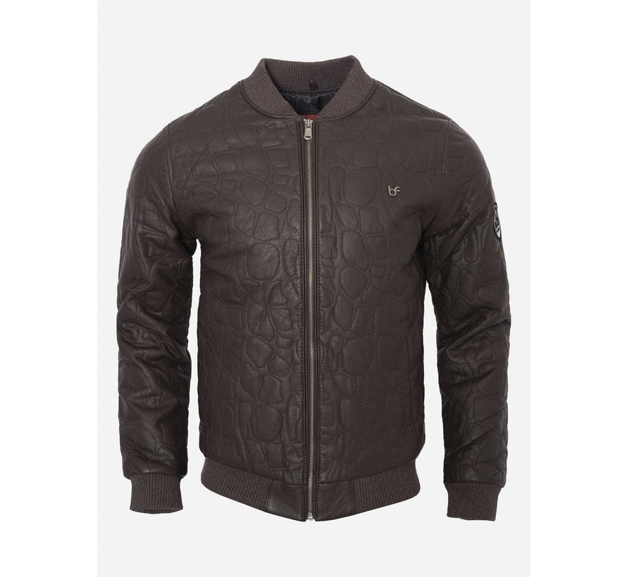 Leather Jacket 91003 Brown