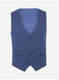 Wam Denim Plaid Vest  70028 Ferrara Royal Blue