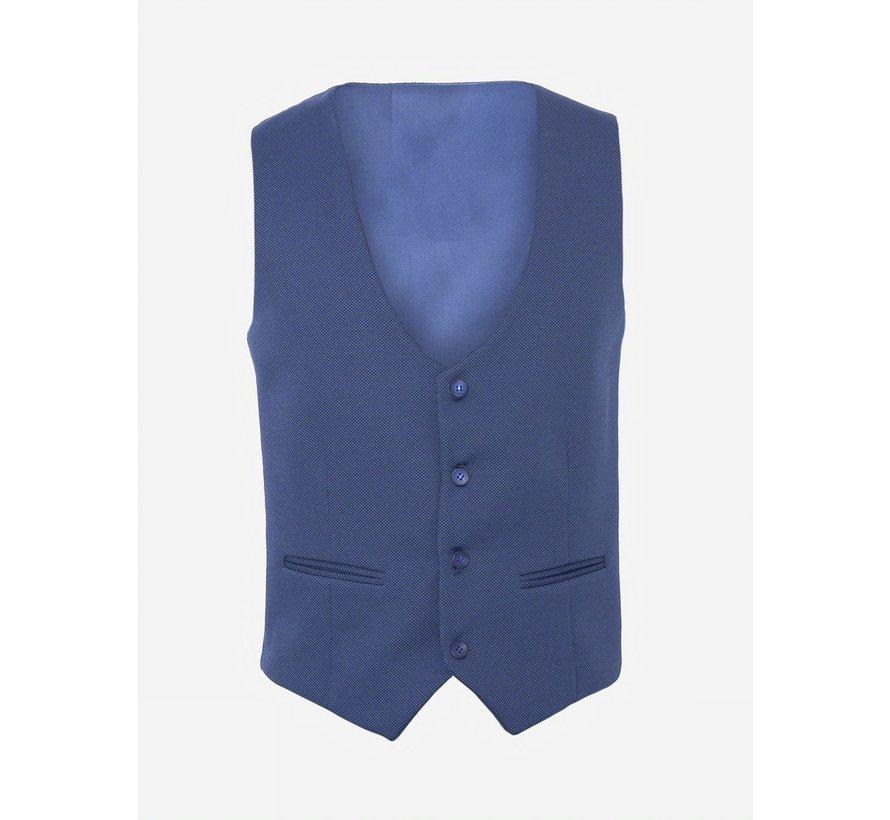 Plaid Vest  70028 Ferrara Royal Blue