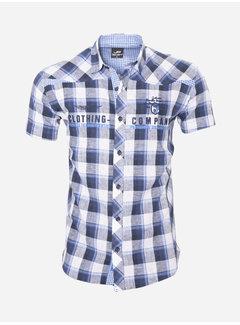 Arya Boy Overhemd Korte Mouw 12Y5238 Blauw