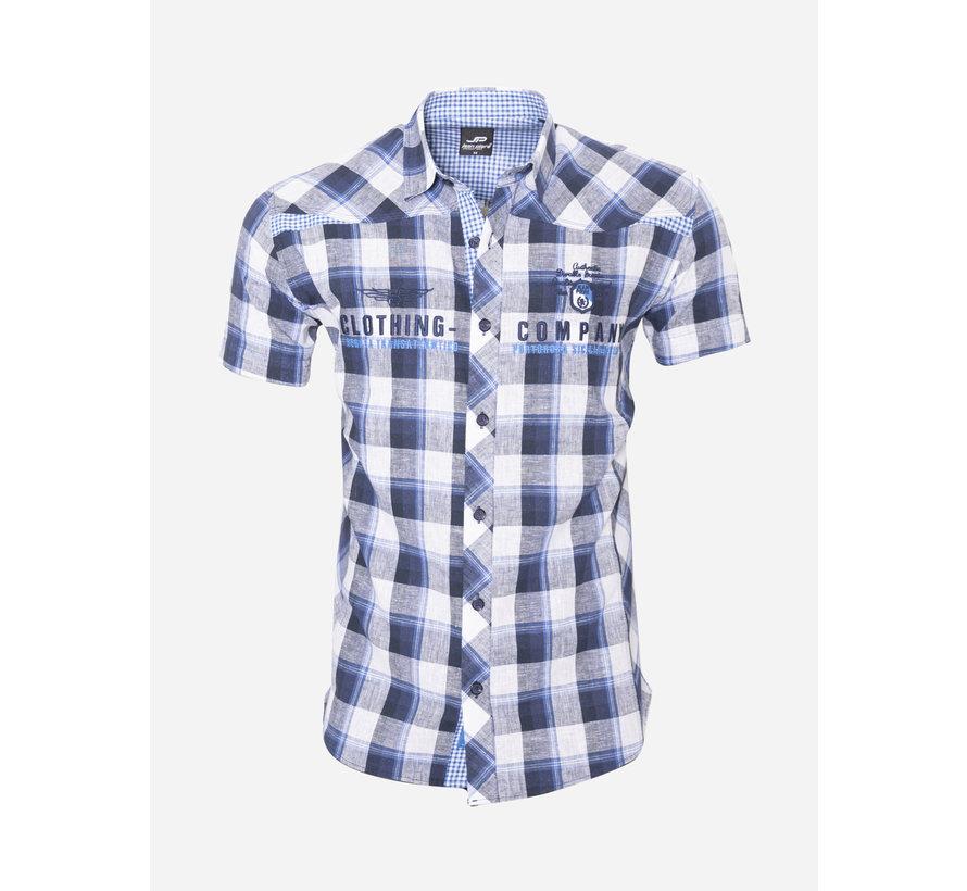 Overhemd Korte Mouw 12Y5238 Blauw