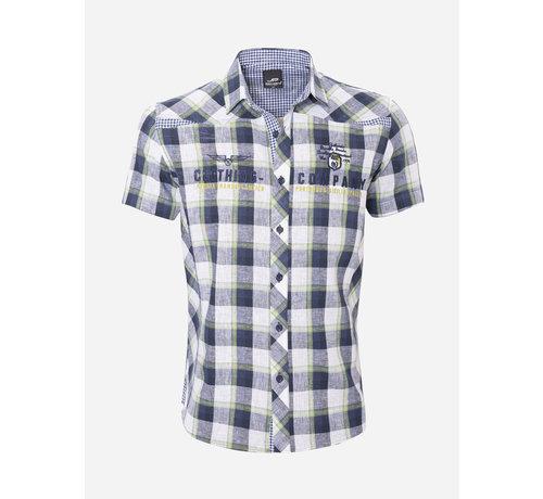 Arya Boy Overhemd Korte Mouw  12Y5238 Green