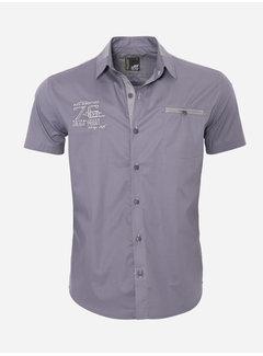 Arya Boy Overhemd Korte Mouw 12Y5250 Anthracite